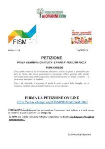 thumbnail of 26. FISM – Firma la petizione