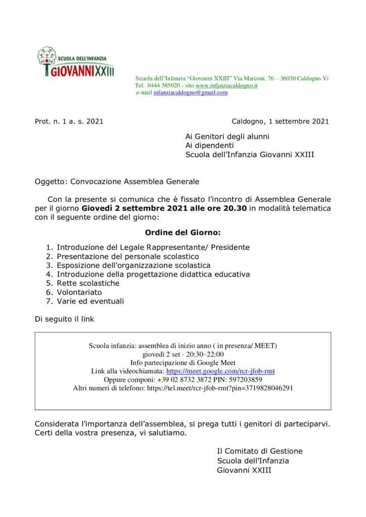 thumbnail of Comunicazione Assemblea Generale settembre – per unione